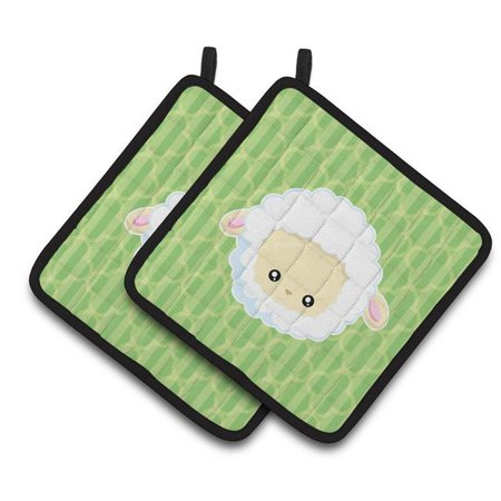 Carolines Treasures BB6928PTHD Sheep Lamb Face Pair of Pot Holders - image 1 of 1