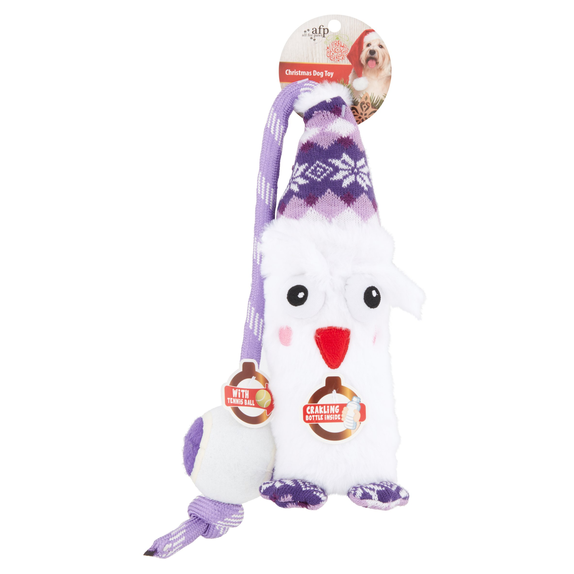 Image of Rope Dog Toy, Holiday Owl