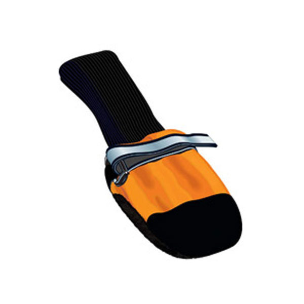 "001128 Fleece Lined Muttluks Dog Boots, Set of 4, Orange, XXS, 1.5"" to 2.25"""