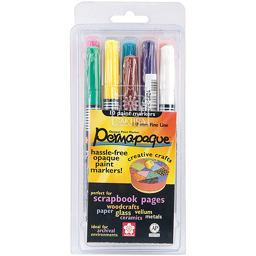 Permapaque Paint Marker, Fine Point Set, 10/pkg