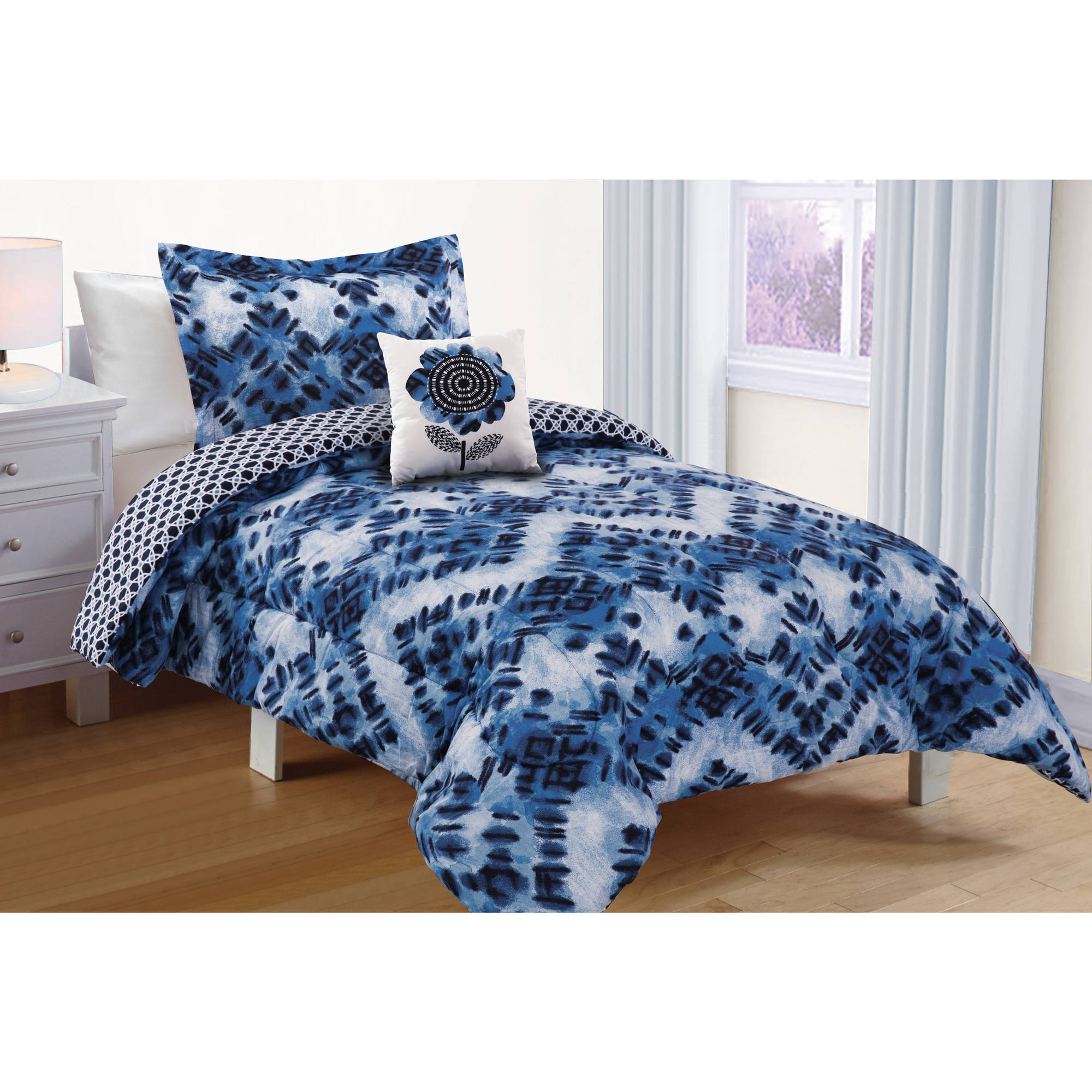Better Homes & Gardens Kids Watercolor Shibori Comforter Set