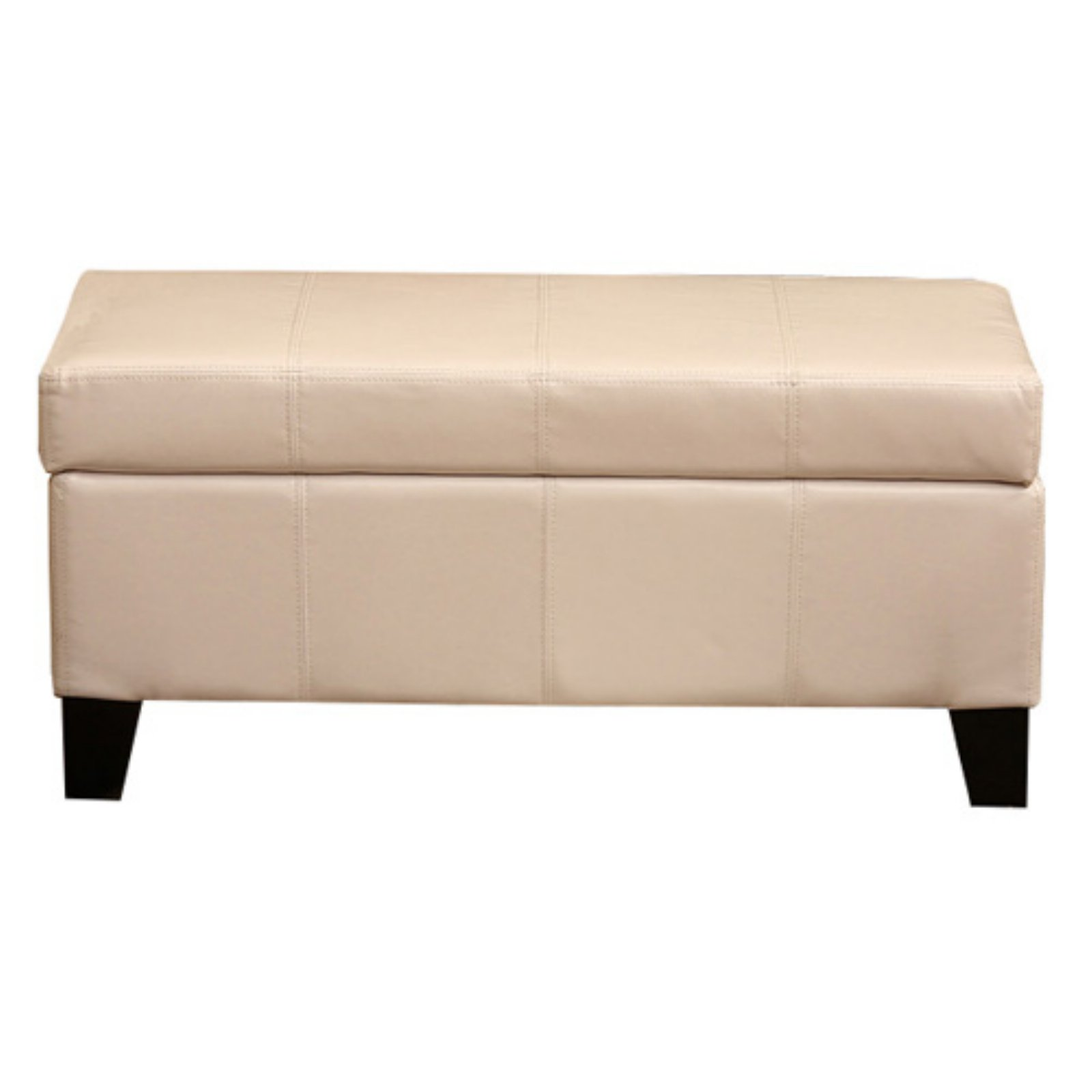 Warehouse Of Tiffany Ariel White Leather Storage Bench   Walmart.com