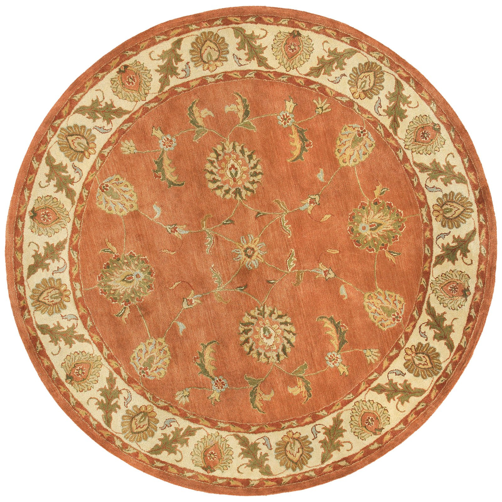 Dynamic Rugs Charisma 1405 Polyn Persian Rug - Rust/Ivory
