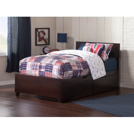Party Store Orlando (Orlando Platform Bed with Matching Foot Board with 2 Urban Bed Drawers in Multiple Colors and)