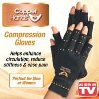 Copper Hands Arthritis Gloves Fingerless Compression Brace Magnetic Joints Support Therapeutic As Seen on TV