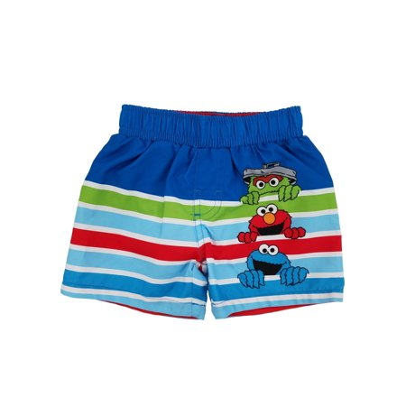 1a0e19092b524 Sesame Street - Sesame Street Oscar Elmo Cookie Monster Infant Boys Swim  Trunks Board Shorts - Walmart.com