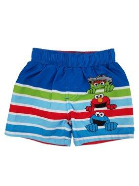 Sesame Street Oscar Elmo Cookie Monster Infant Boys Swim Trunks Board Shorts