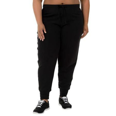 c584a3a1ac9d1 Women s Plus-Size French Terry Jogger Pant - Walmart.com