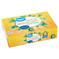 Great Value Ultimate Fresh Original Clean Dryer Sheets, 80 count