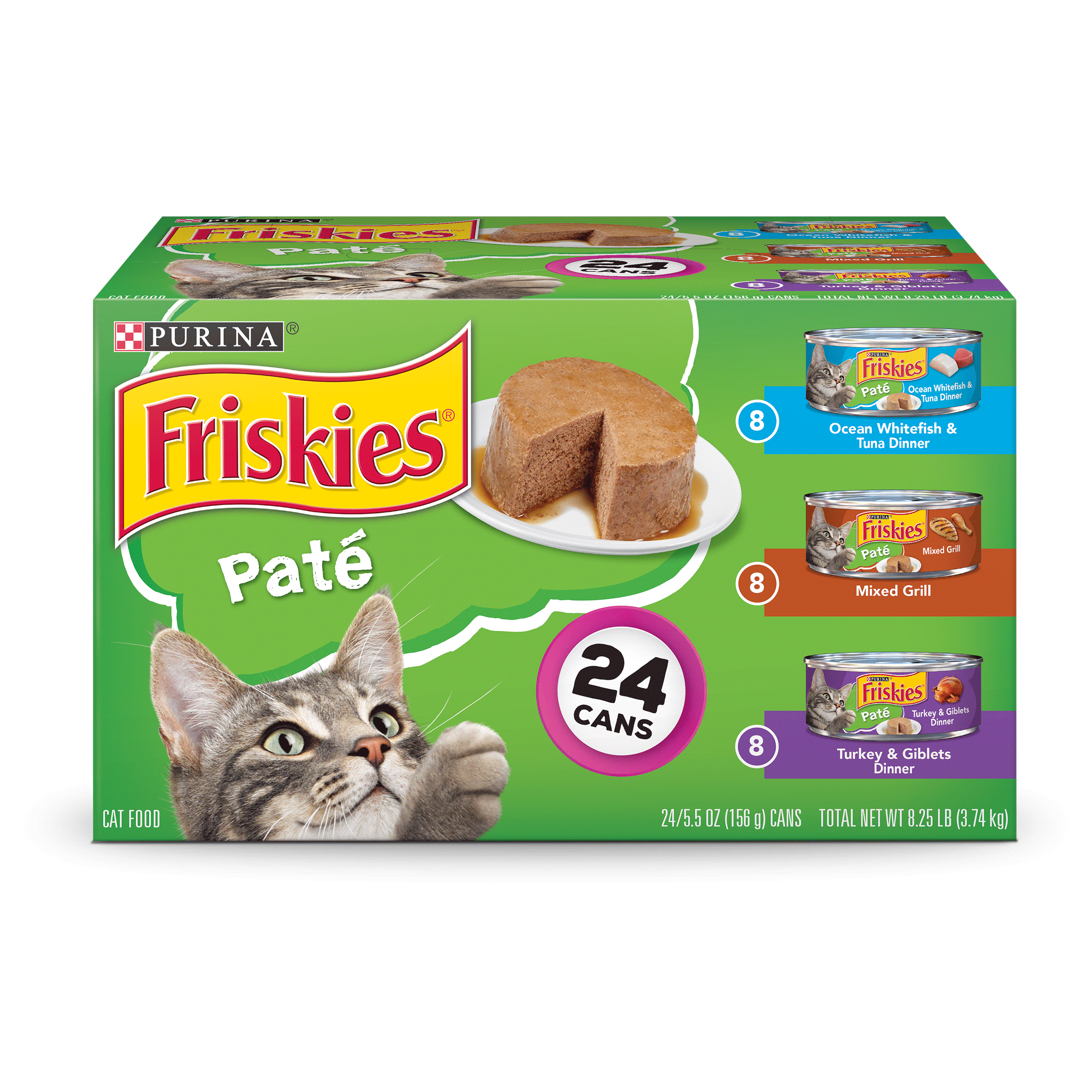Purina Friskies Pate Adult Wet Cat Food Variety Pack - (24) 5.5 oz. Cans