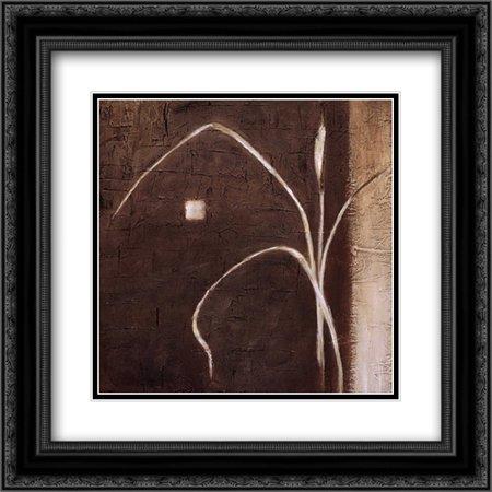 Ursula Salemink Roos Grass (Grass Roots I 2x Matted 20x20 Black Ornate Framed Art Print by Salemink-Roos, Ursula)