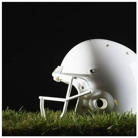 Football Helmet by Eazl Canvas Poster (Football Poster Ideas)