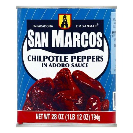 San Marcos in Adobo Sauce Chilpotle Peppers, 28 OZ (Pack of