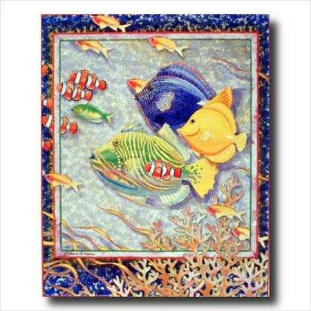 Exotic Tropical Ocean Fish Kid Wall Picture Art Print