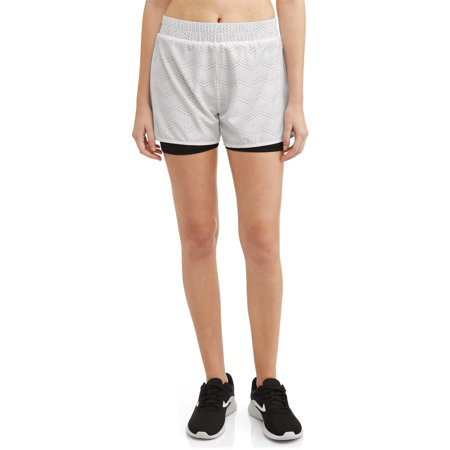 ec2095798a Daisy Fuentes - Women's Active Running Short with Lasercut Detail -  Walmart.com