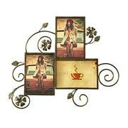 Adeco  3-opening Elegant Iron Wall-hanging Photo Frame