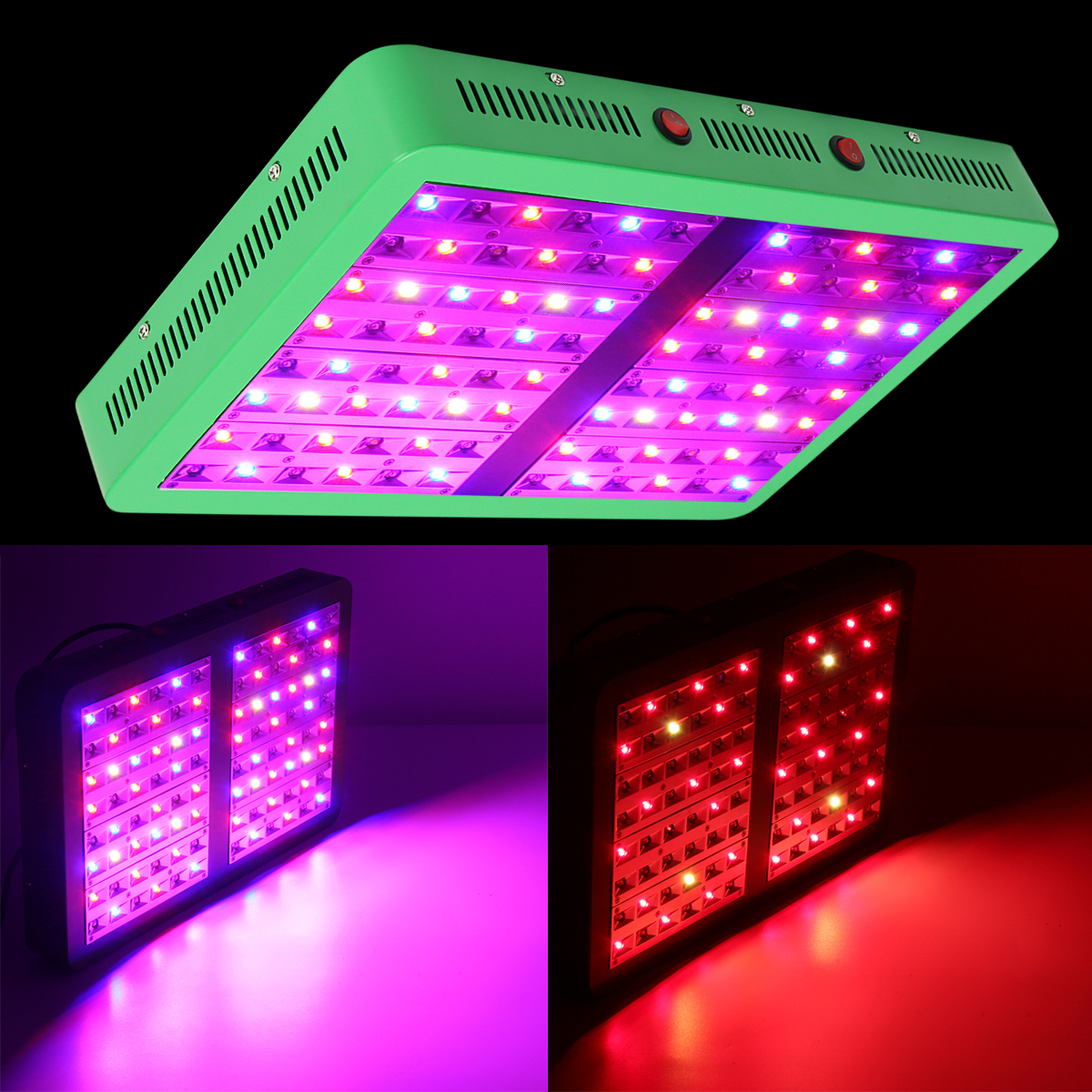 190W LED Grow Light Full Spectrum Veg Flower Indoor Plant Lamp Panel Reflector