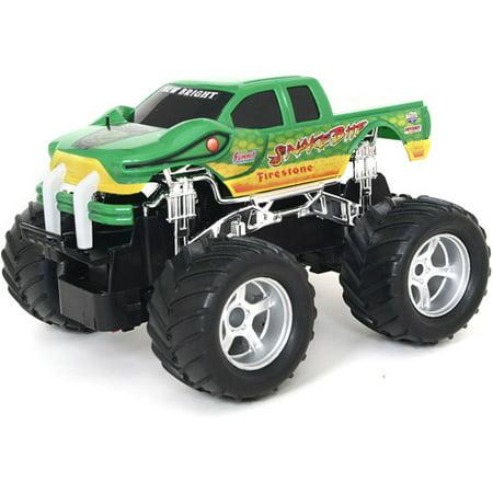 "New Bright 7"" R/C Monster Truck-Snake Bite, Green Only $6.97 (Was $28)"