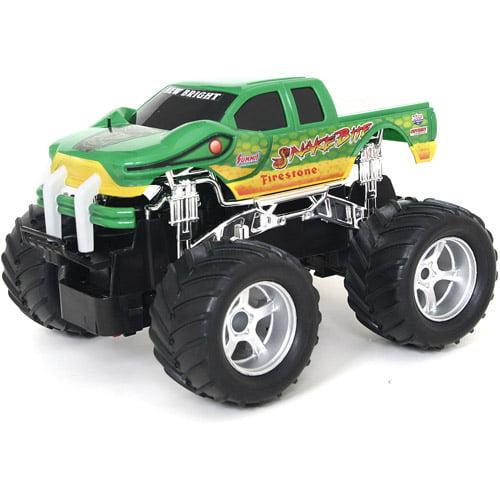 """New Bright 7"""" R/C Monster Truck-Snake Bite, Green"""