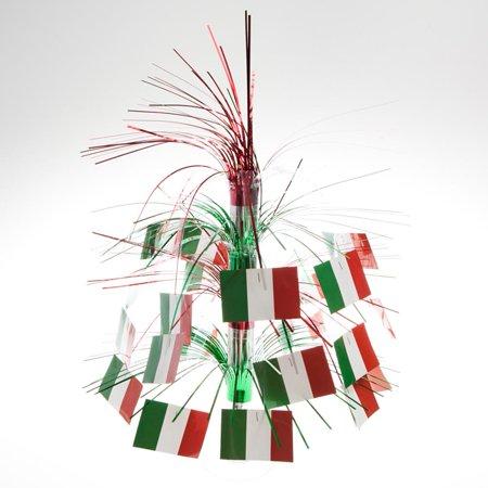 Italian Flag Cascade Centerpiece Party Accessory (1 count) (1/Pkg) - Italian Centerpiece Ideas