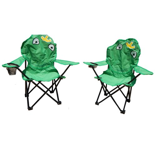Zoomie Kids Skyler Frog Folding Kids Chair Set (Set of 2)