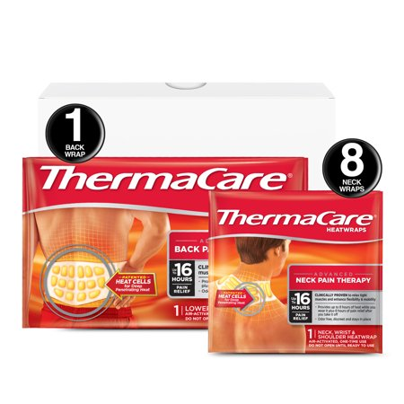 THERMACARE 8HR Neck, Shoulder, Wrist 8CT + 1 L/XL Back (Best Over The Counter Medicine For Back Muscle Pain)