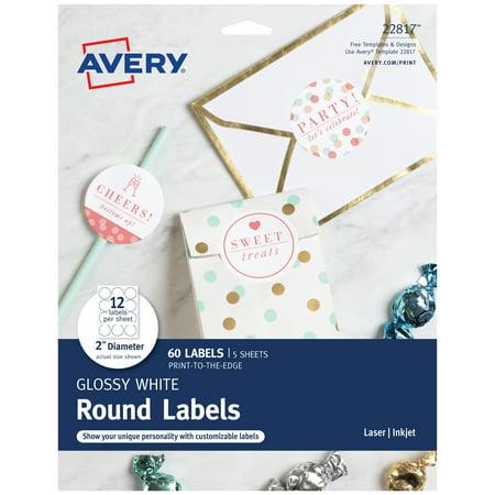 Printable Favor Labels (Avery Circle Labels, Laser/Inkjet, 2