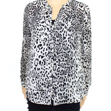 a90ed82e5cf5a5 Joie - Joie NEW Gray Womens Size Small S Button-Down Animal Print Silk  Blouse - Walmart.com
