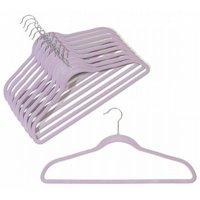 Slim-Line Lavender Shirt/Pant Hangers, Lavender Slim-Line with Chrome Hook By ClosetHangerFactory,USA