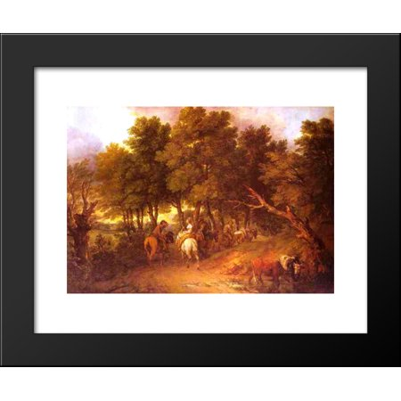 Pesants Returning from Market 20x24 Framed Art Print by Thomas Gainsborough - Gainsborough Halloween Market
