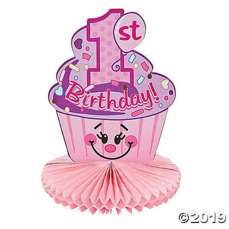1st Birthday Cupcake Centerpiece](Cupcake Centerpieces)