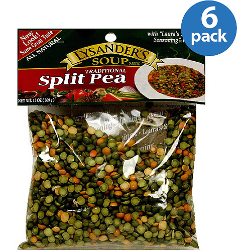 Lysander's Traditional Split Pea Soup Mix, 13 oz (Pack of 6)