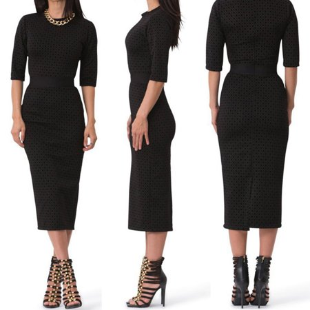 New Elegant Women's Party Cocktail Office Dress Formal Bodycon Pencil Dresses Black Size S Elegant Cocktail Party Dress