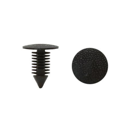 Unique Bargains 100Pcs Black Car Door Fender 9mm Hole Push Plastic Rivets Retainer Clips