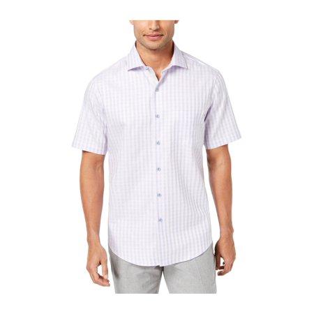Tasso Elba Mens Check Button Up Shirt purplecombo 3XL - image 1 of 1