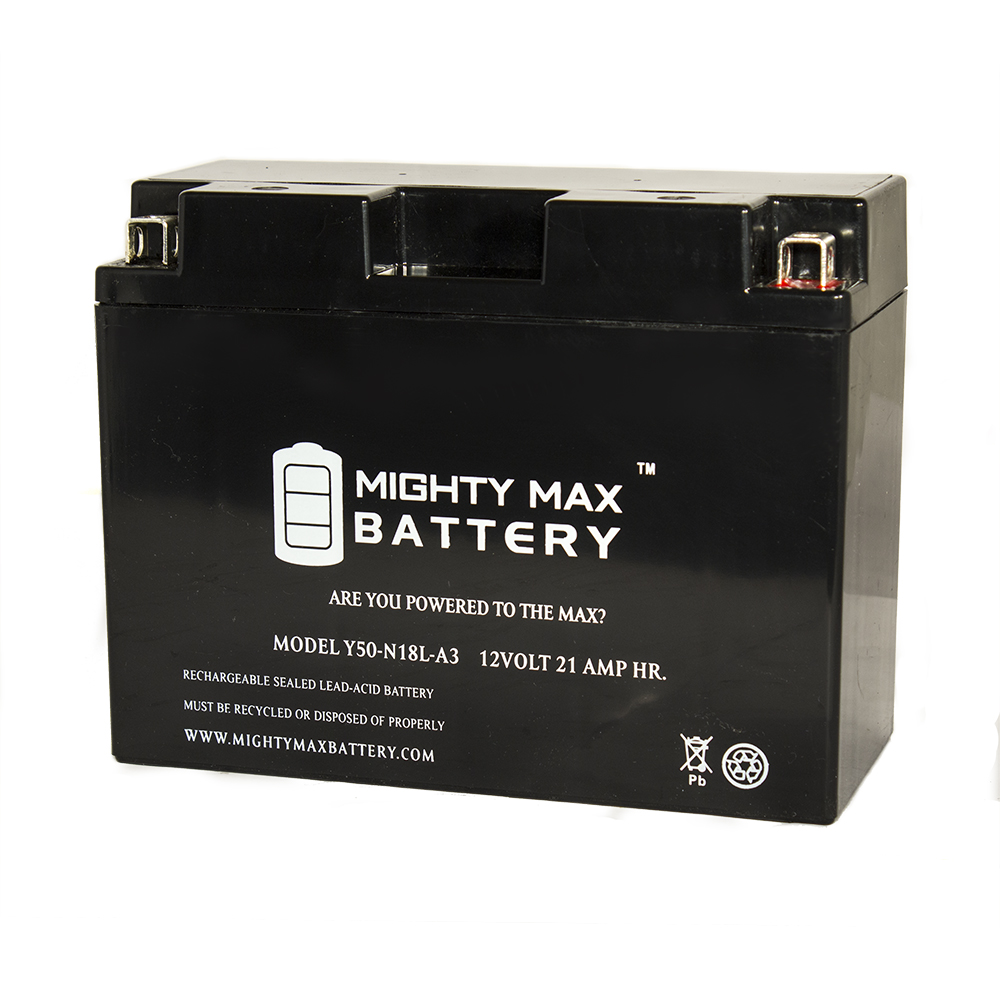 Y50-N18L-A3 Battery for CanAm 500cc Traxter All Models Quest Opt 2005 by Mighty Max Battery