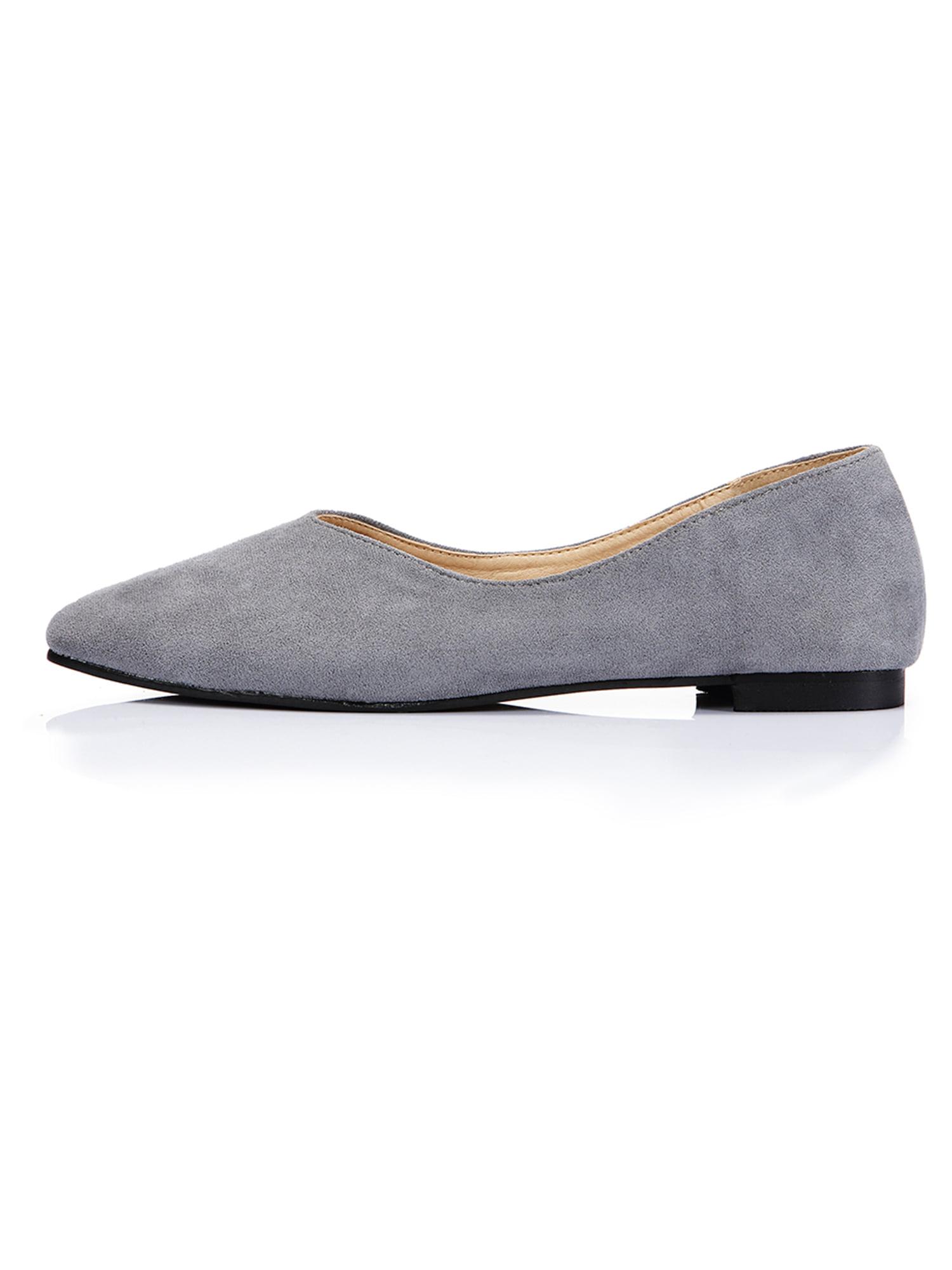Women's Wide Width Flat Shoes Suede