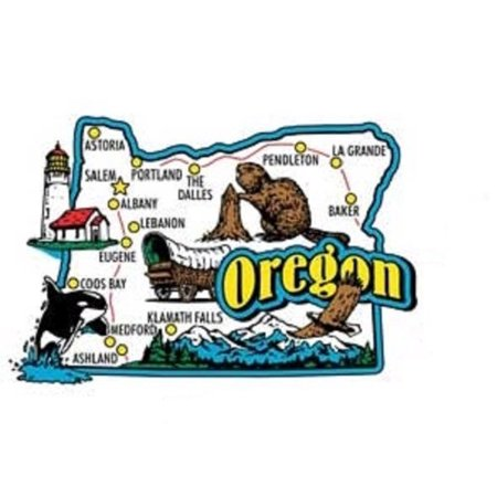 Oregon Jumbo State Map Fridge Magnet - Custom Fridge Magnets