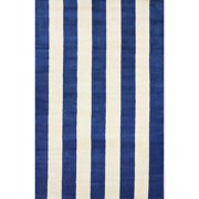 nuLOOM Hand-tufted Vertical Stripes Blue New Zealand Wool Rug (5' x 8')