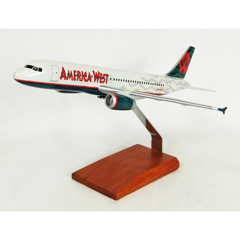 Daron Worldwide Airbus A320 America West Model Airplane by Toys and Models Corp