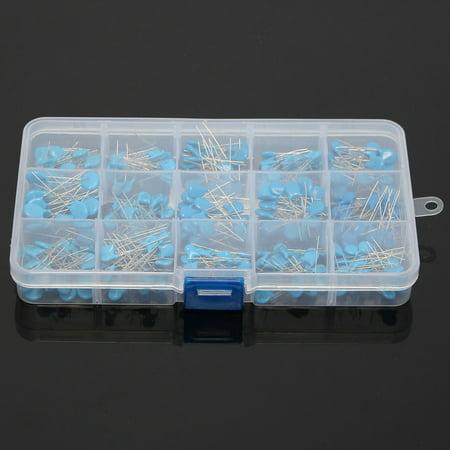 300pcs 15value 50V 0.1nF~22nF High Voltage Ceramic Capacitors Assortment Assorted Kit + Box - image 4 de 5