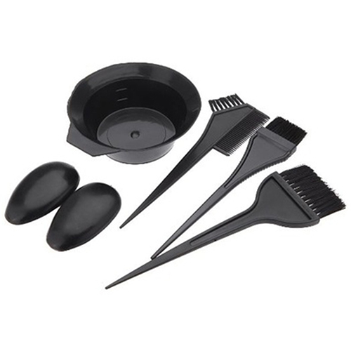 Girl12Queen 5Pcs Hairdressing Brushes Bowl Combo Hair Color Dye Tint Tool Hair Coloring Kit