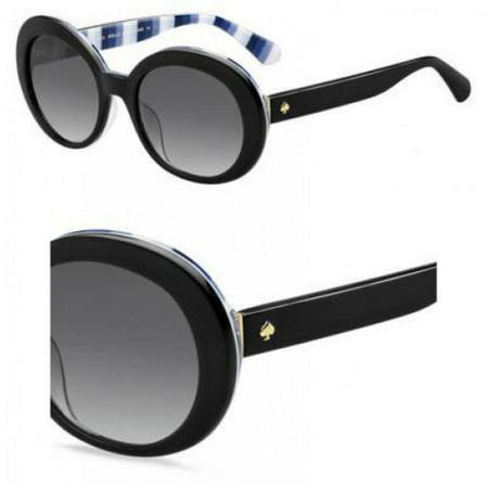 Dark Black Lens Rock (Sunglasses Kate Spade Cindra/S 0807 Black / 9O dark gray gradient lens )