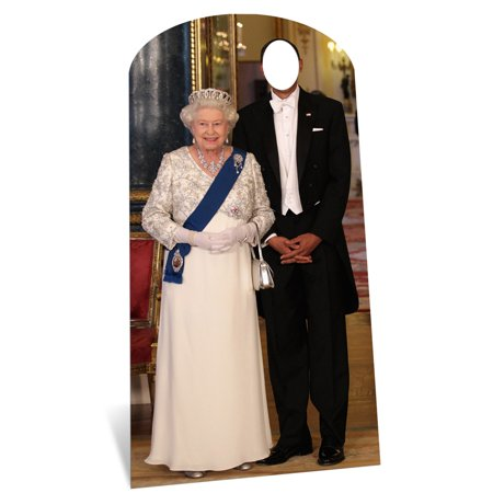Star Cutouts SC595 Stand in Cardboard Cutout of the Queen. - Circus Stand In Cutouts