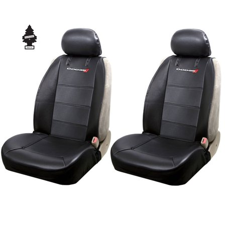 New Pair of Dodge Logo Universal Sideless Car SUV Truck Seat Cover w/ HeadRest and Air
