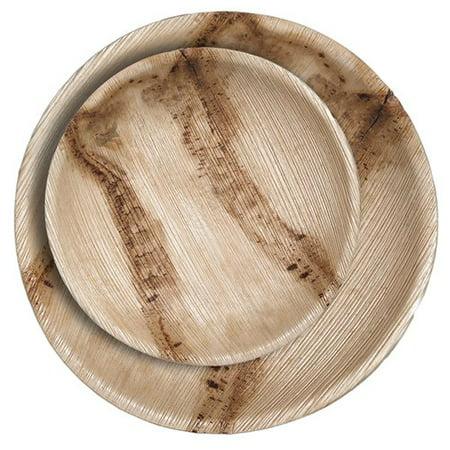CaterEco Round Palm Leaf 50 Piece Plate Set](Palm Leaf Plates)
