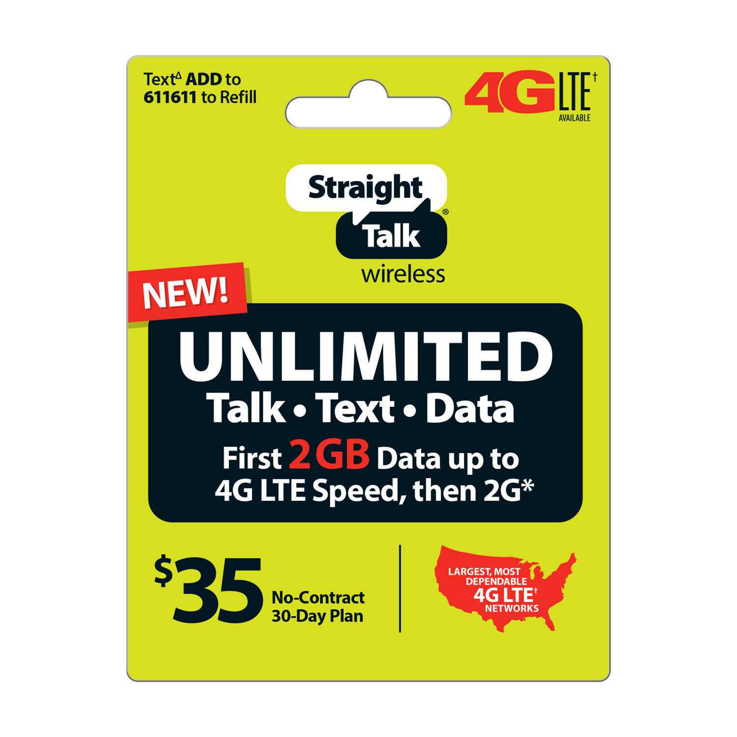 Straight Talk $35 Unlimited 30 Day Plan (Email Delivery)