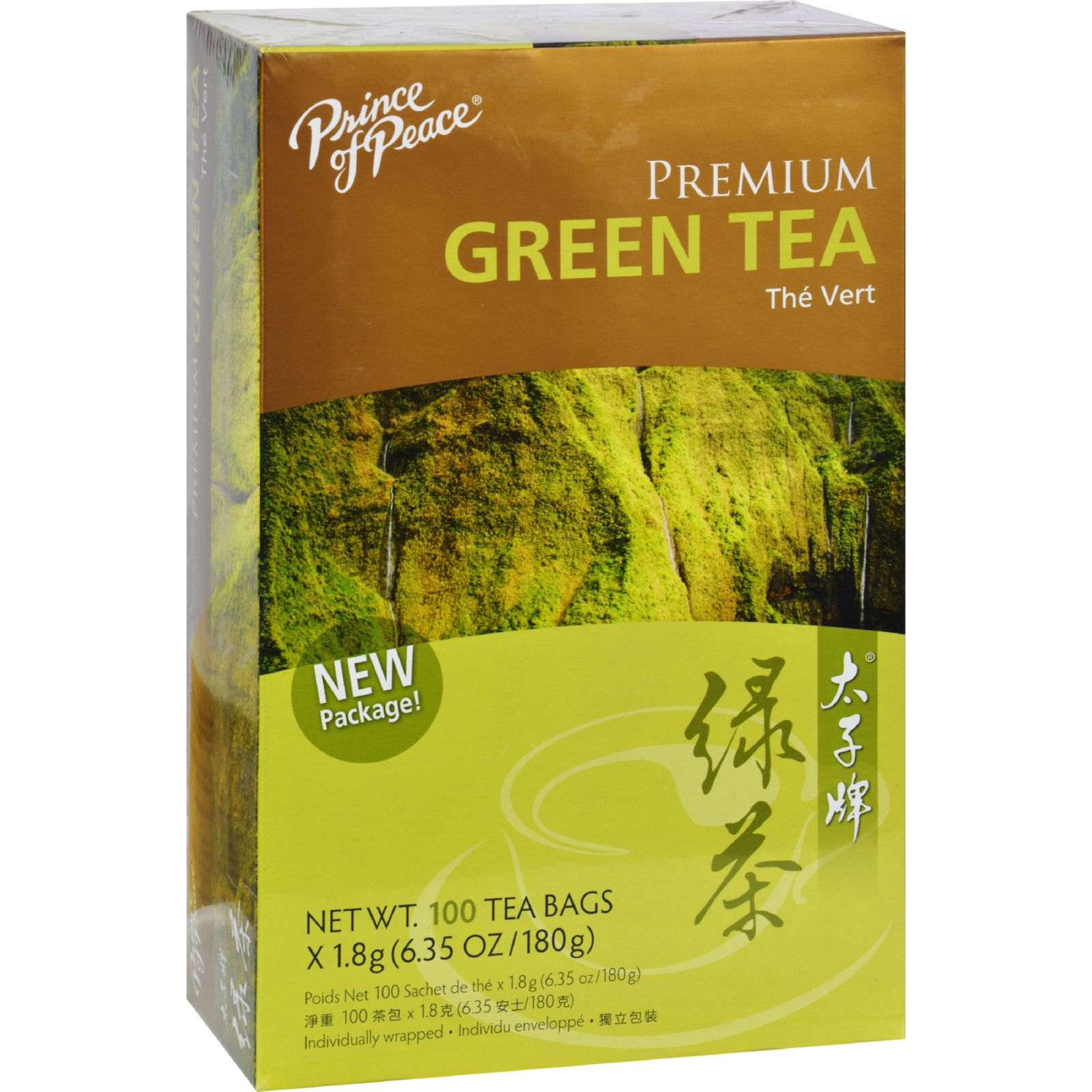 Prince of Peace Premium Green Tea - 100 Tea Bags
