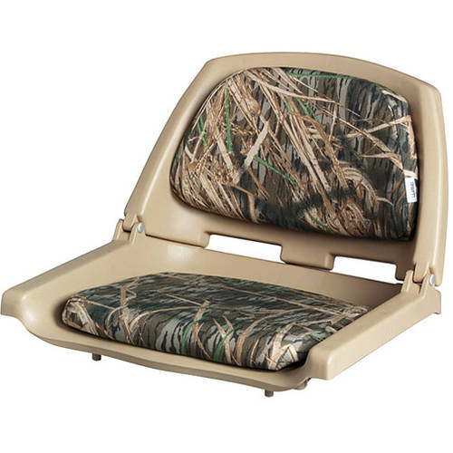 Wise Plastic Folding Boat Seat, Shadow Grass Camo
