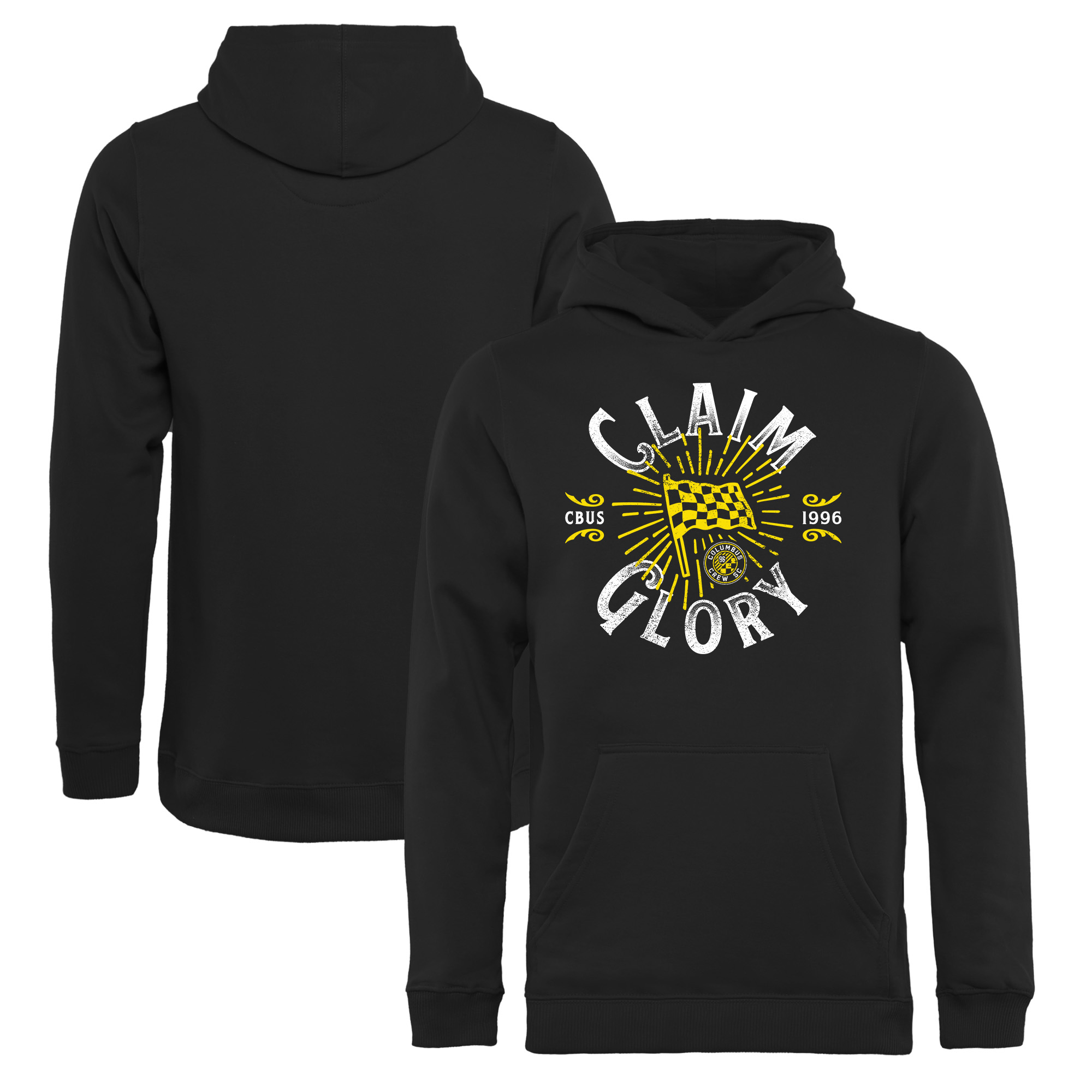 Columbus Crew SC Fanatics Branded Youth Glory Flag Pullover Hoodie - Black